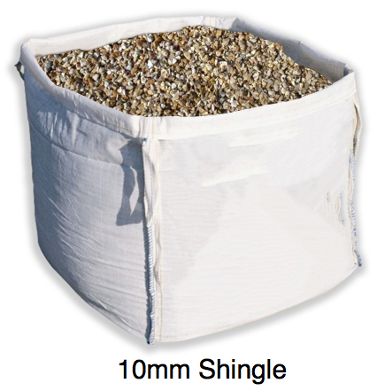 bulk bag of 10mm shingle