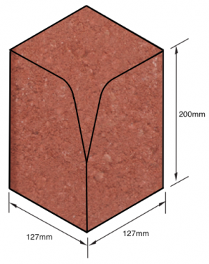 Keykerb-Half-Battered-Internal-Angle-Red