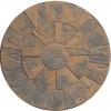Marshalls Heritage Paving 2 Ring Circle Calder Brown