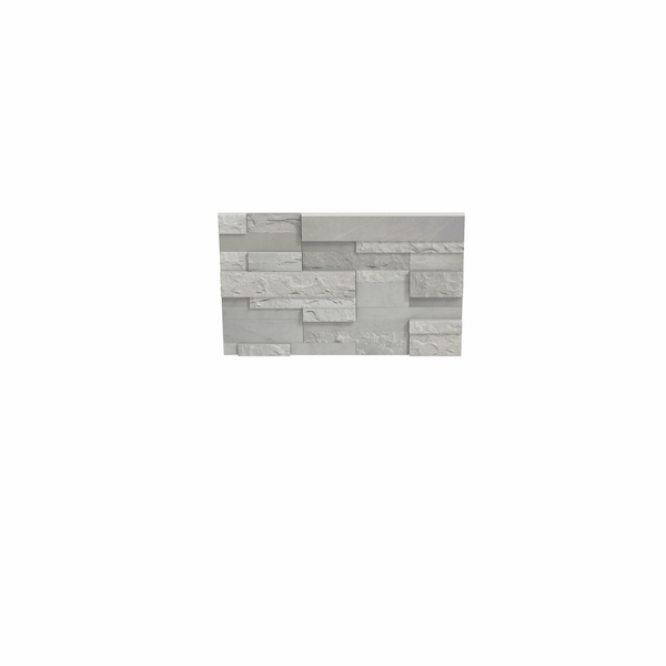 stoneface textured silver walling