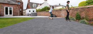 Marshalls tegula charcoal driveway installed